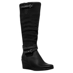 UGG Black Tall Lesley Wedge Boots Size 5